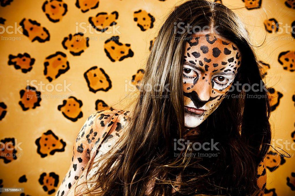 Jaguar Woman on the Prowl stock photo