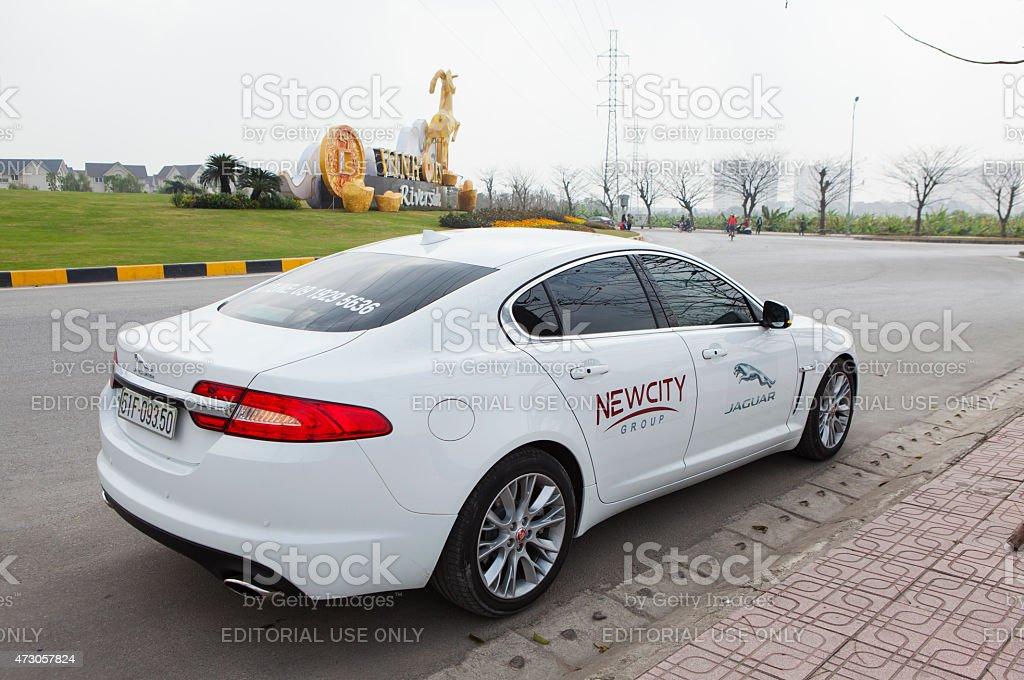 Jaguar XF car stock photo