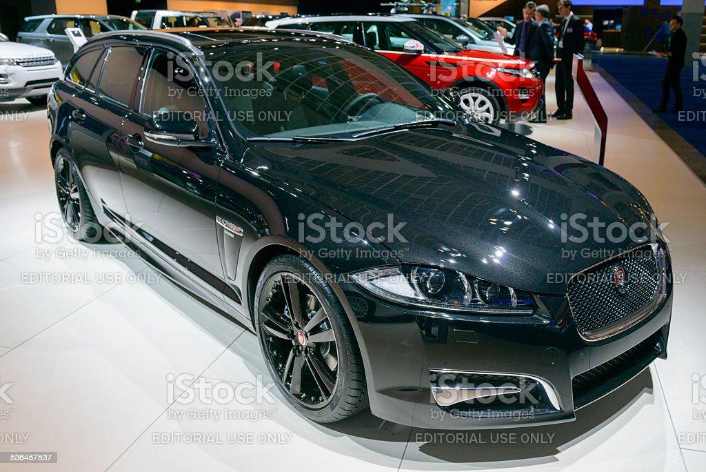 Jaguar XF estate car stock photo