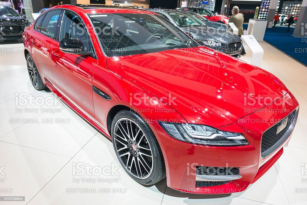 Jaguar XF saloon car stock photo