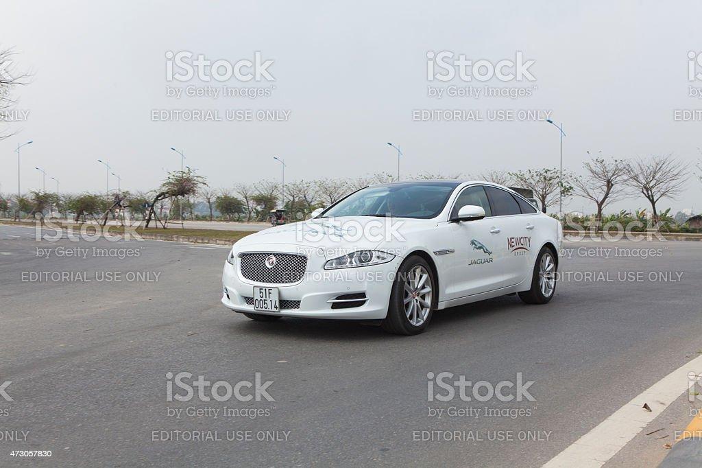 Jaguar XJ car stock photo