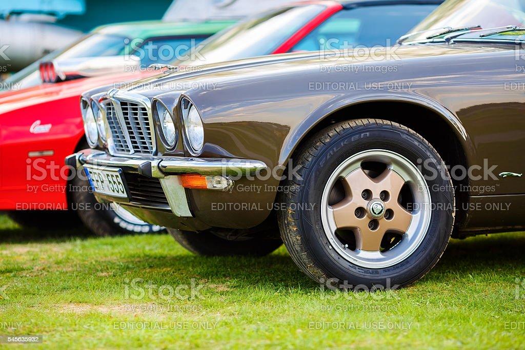 Jaguar XJ6 1976 stock photo