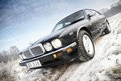 Jaguar XJ6 on the outskirts