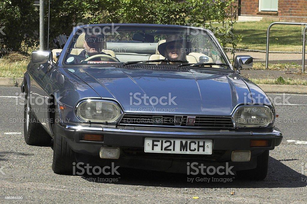 Jaguar XJ-S car stock photo