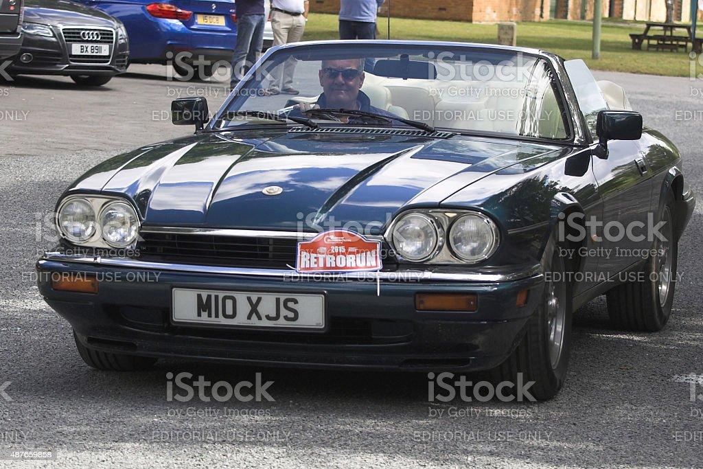 Jaguar XJ-S Convertible car stock photo