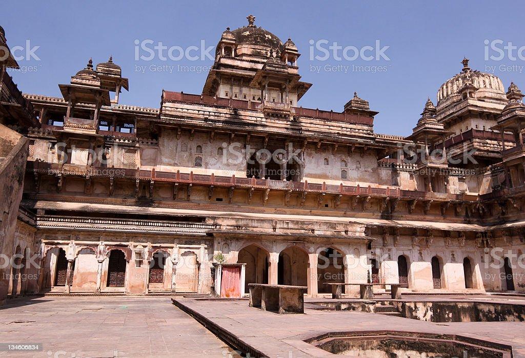 Jahangir Mahal in Orchha, india stock photo