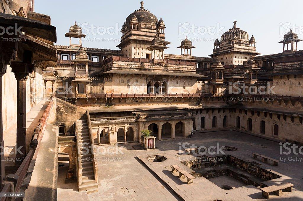 Jahangir Mahal, Orchha, India stock photo