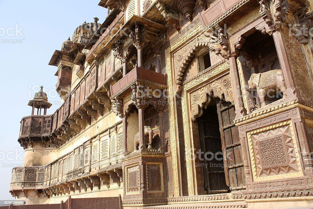 Jahangir Mahal palace, Orchha, India stock photo