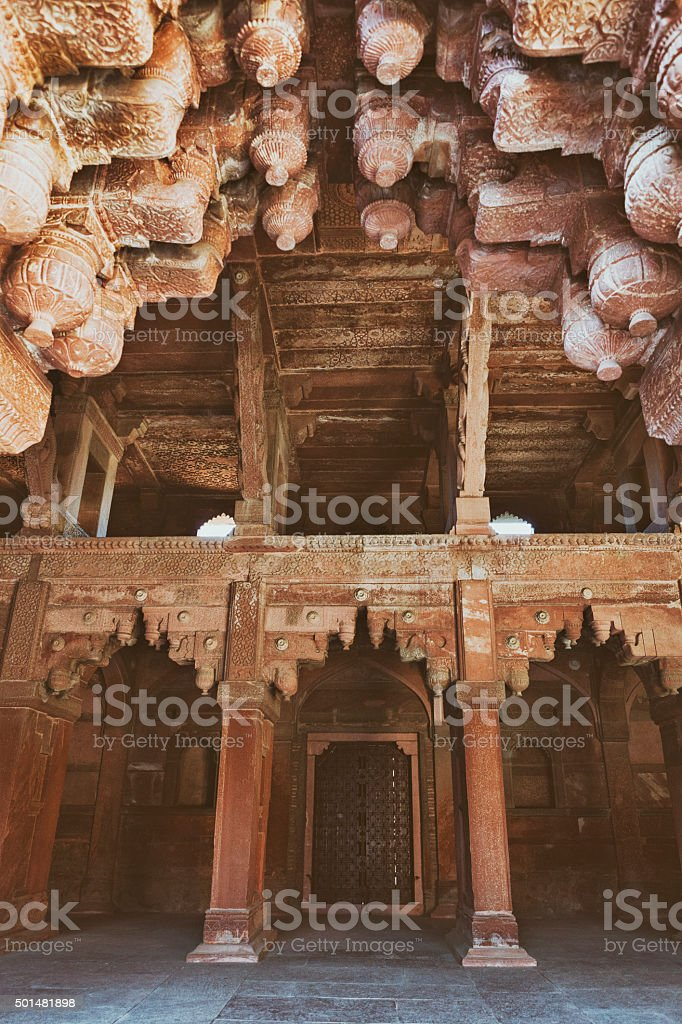 Jahangiri Mahal Interior at Agra Fort in Agra, India stock photo