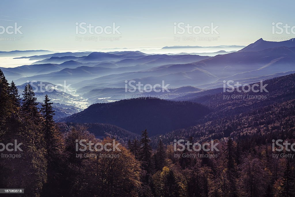 Jahorina mountain, Bosnia and Hercegovina royalty-free stock photo