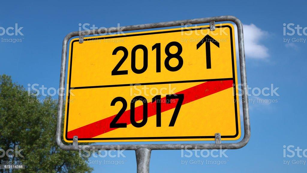 Jahreswechsel 2017/2018 stock photo