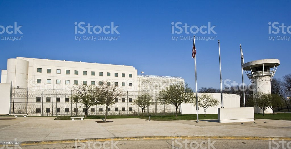 Jail building royalty-free stock photo