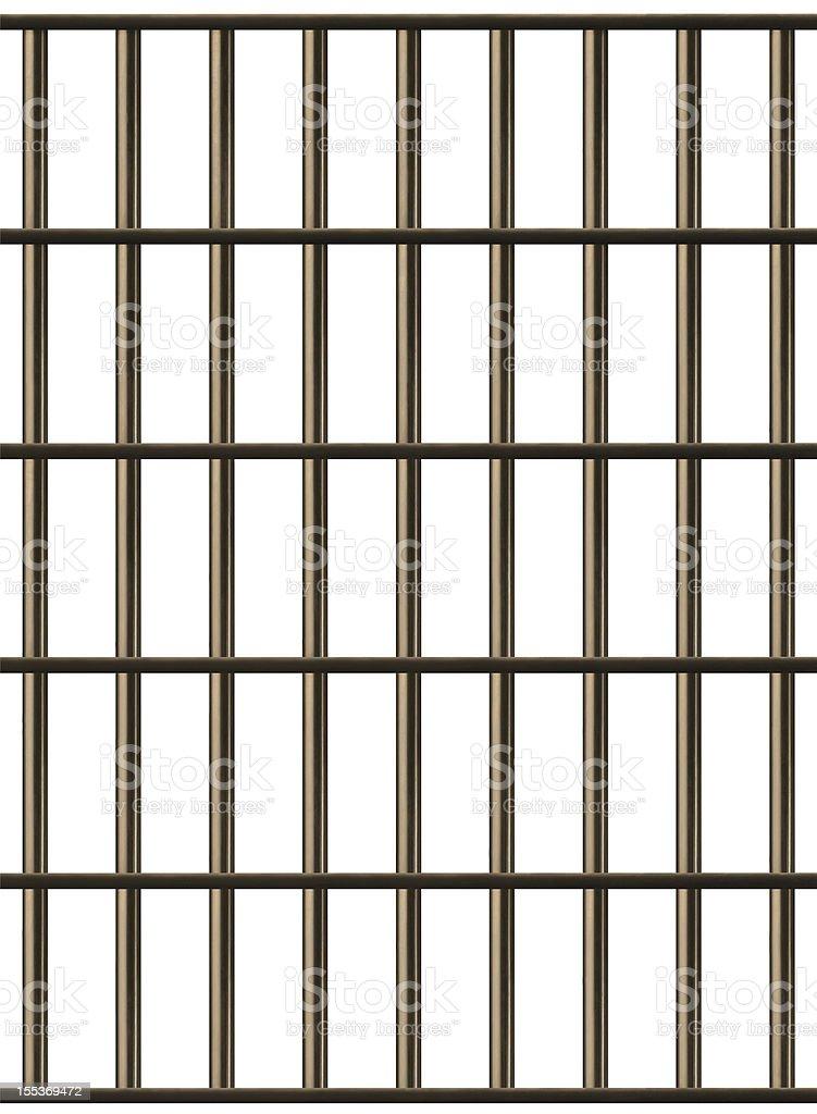 Jail Cell Bars stock photo