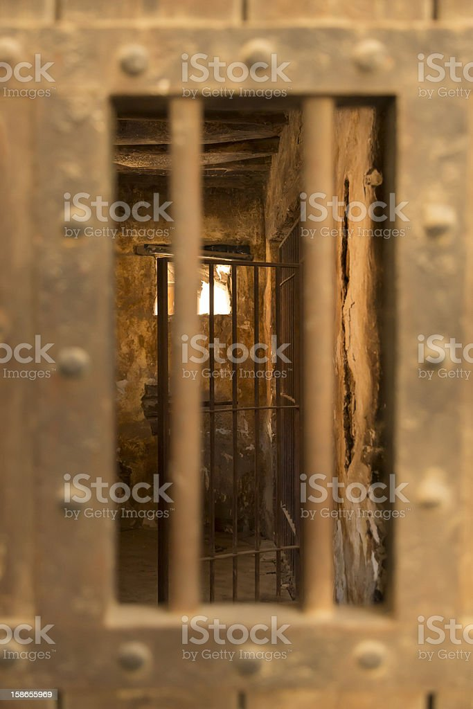Jail In The Far West Desert royalty-free stock photo