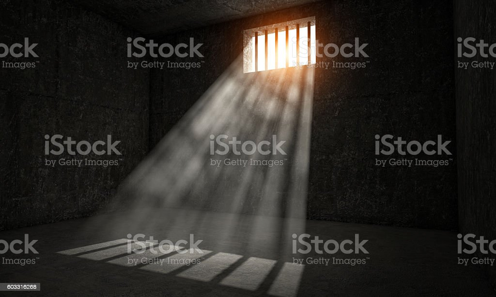 jail point of view stock photo