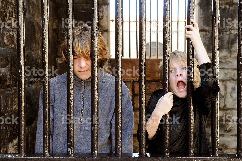Jail time stock photo