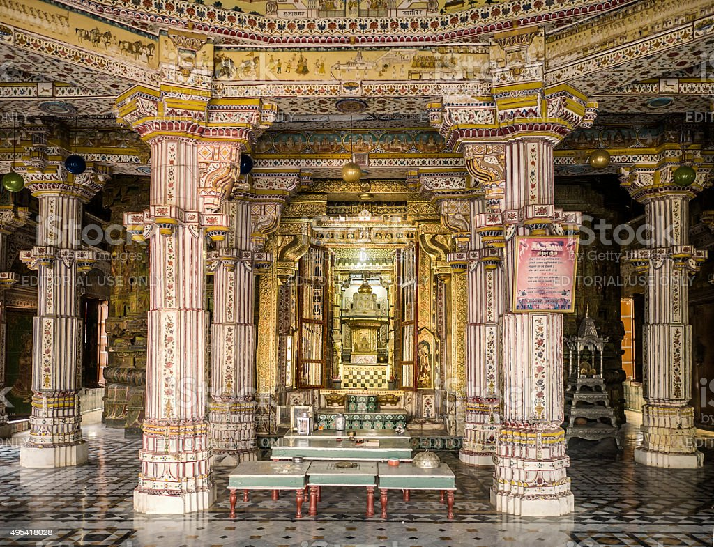 Jain temple Bhandreshwar Bikaner Rajasthan India stock photo