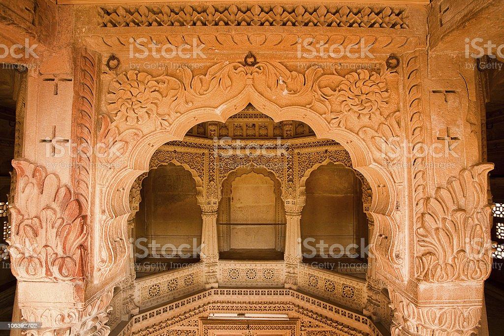 jain temple of amar sagar royalty-free stock photo