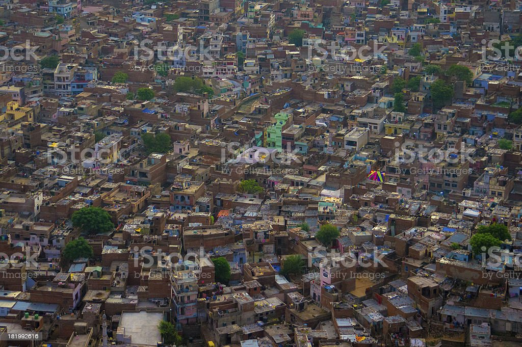 Jaipur city bird's-eye view stock photo