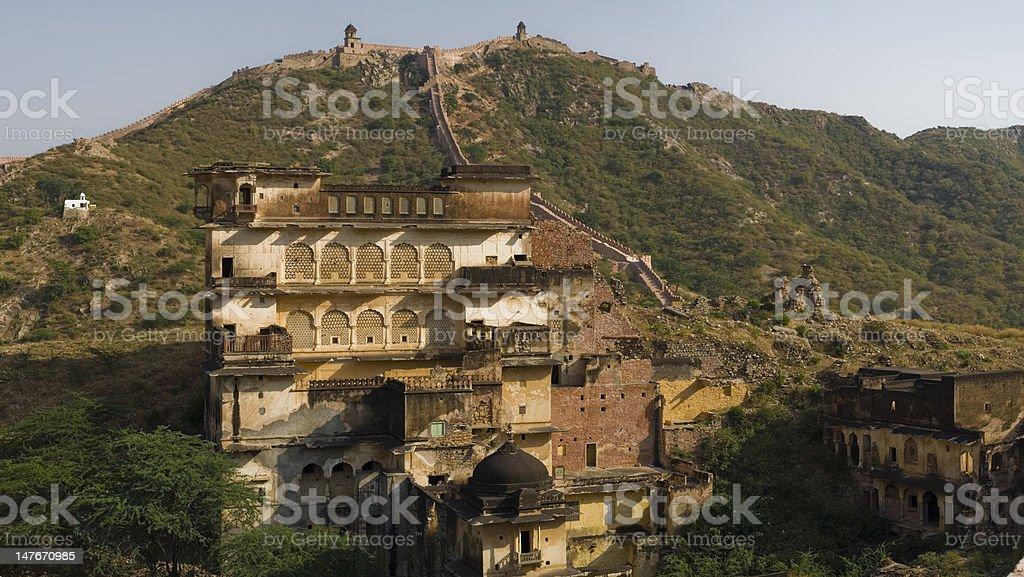 Jaipur's 'Great China Wall' stock photo