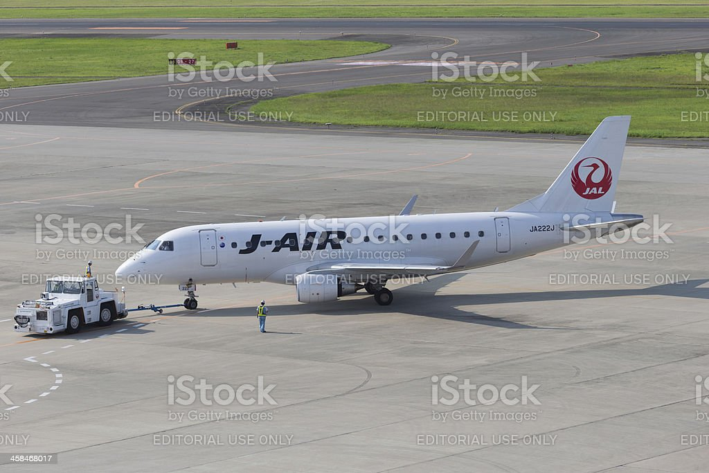 J-Air Embraer ERJ-170STD in Japan royalty-free stock photo