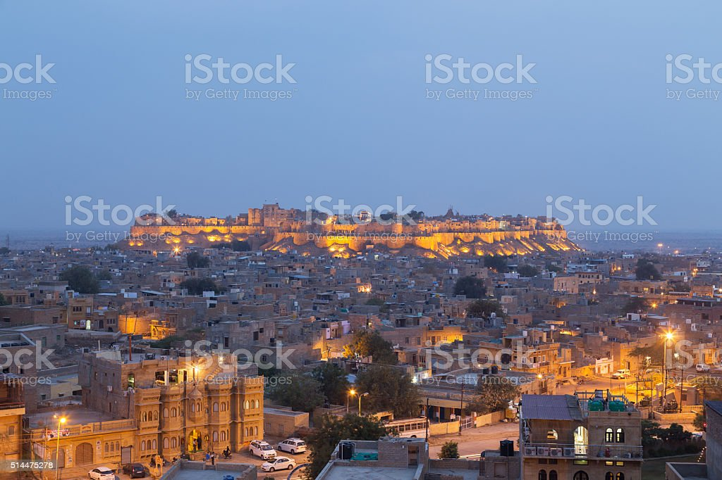 Jaisalmer city in Rajasthan state, India stock photo