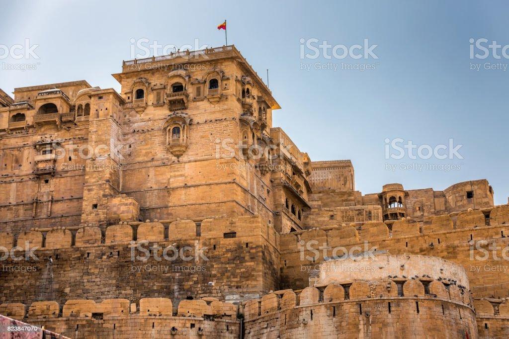 Jaisalmer fort in Rajastha stock photo