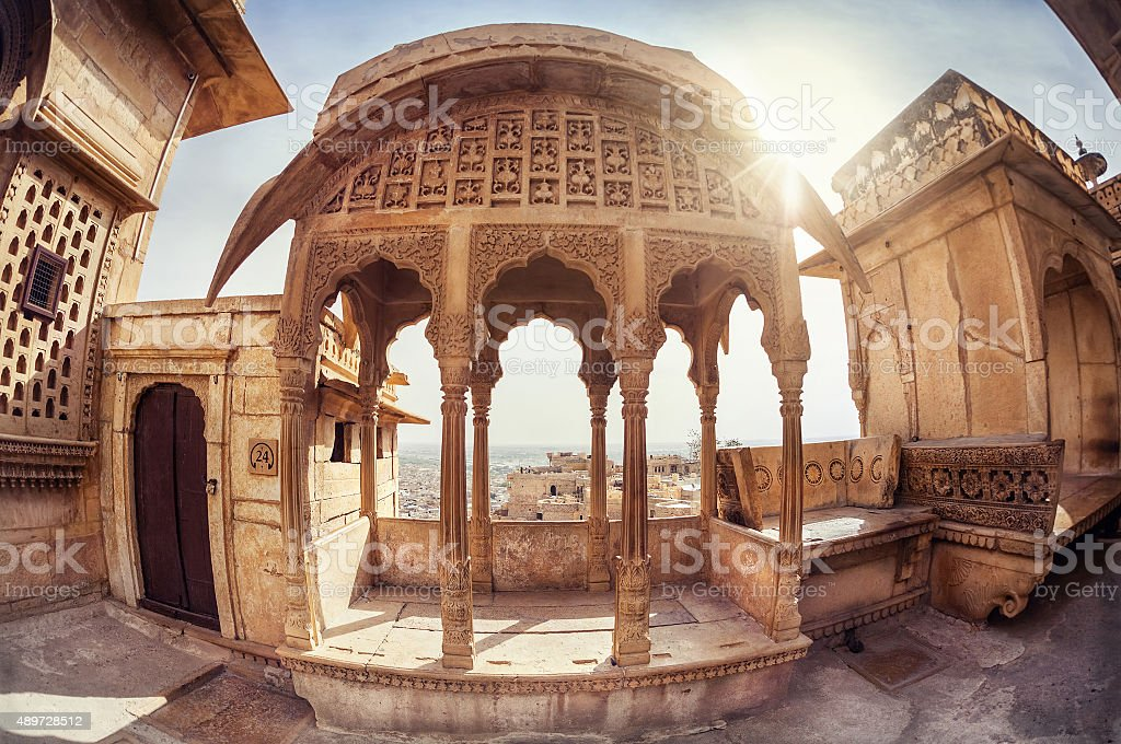Jaisalmer fort museum stock photo