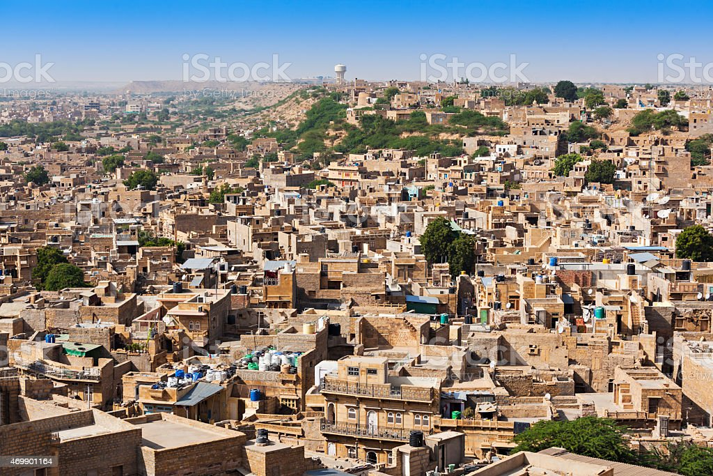 Jaisalmer panorama view stock photo
