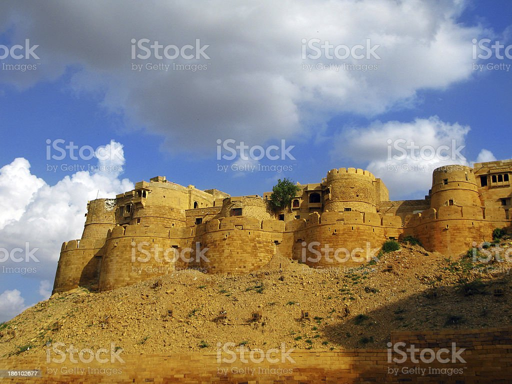 Jaisalmer, the magnificent 'Golden City' in Rajasthan's heart. India royalty-free stock photo