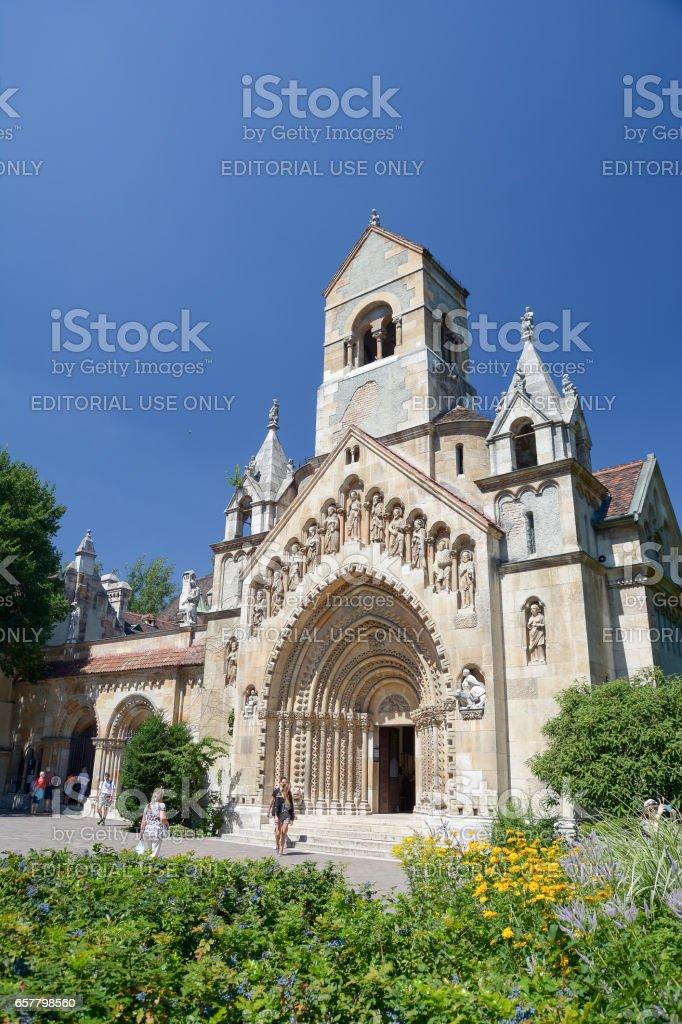 Jak Church, Budapest, Hungary stock photo