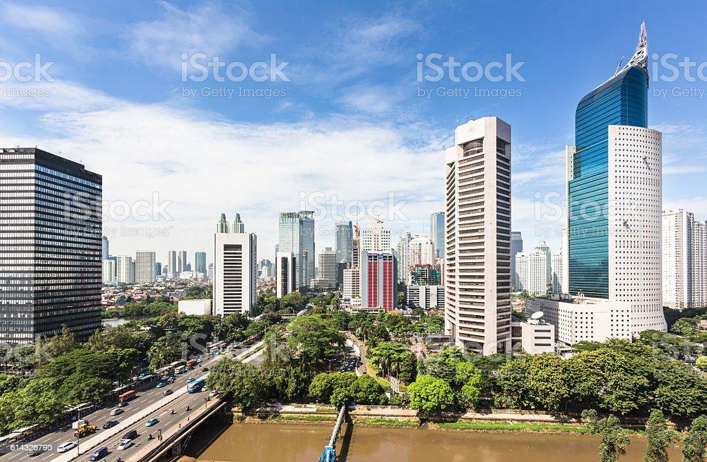 Jakarta business district stock photo