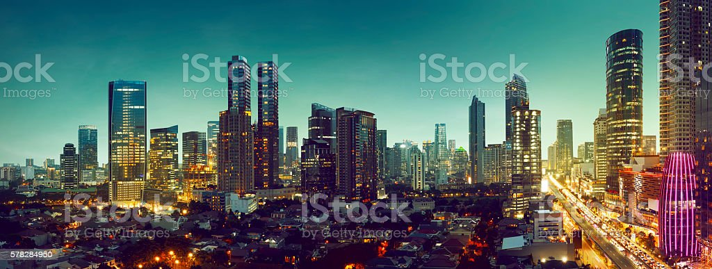 Jakarta City stock photo