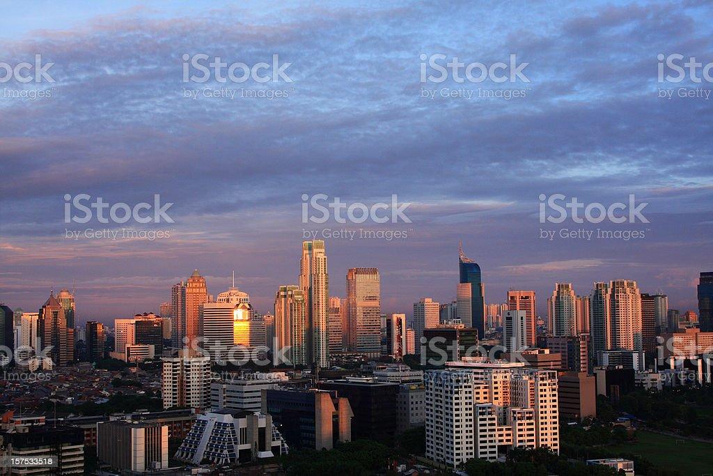 jakarta city view stock photo