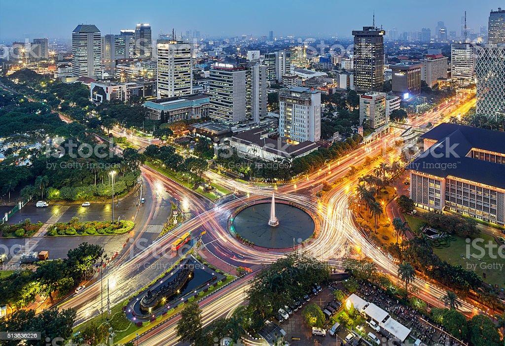 Jakarta Intersection stock photo