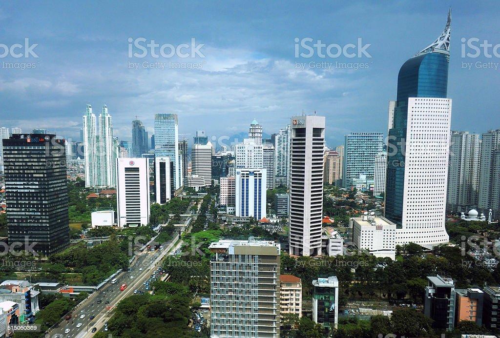 Jakarta skyline stock photo