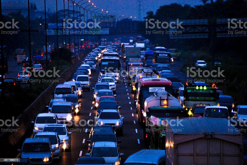 Jakarta's Traffic stock photo