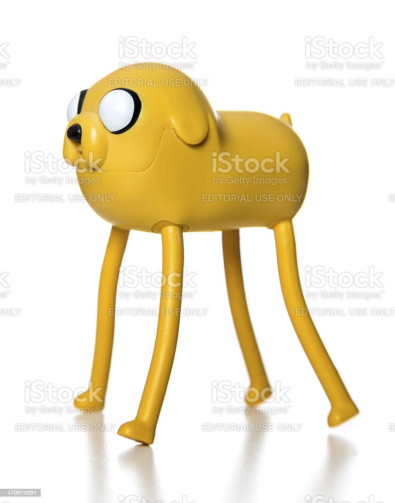 Jake Adventure Time McDonalds happy meal toy stock photo