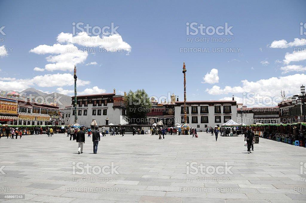 Jakhang Temple & Square - Lhasa Tibet stock photo