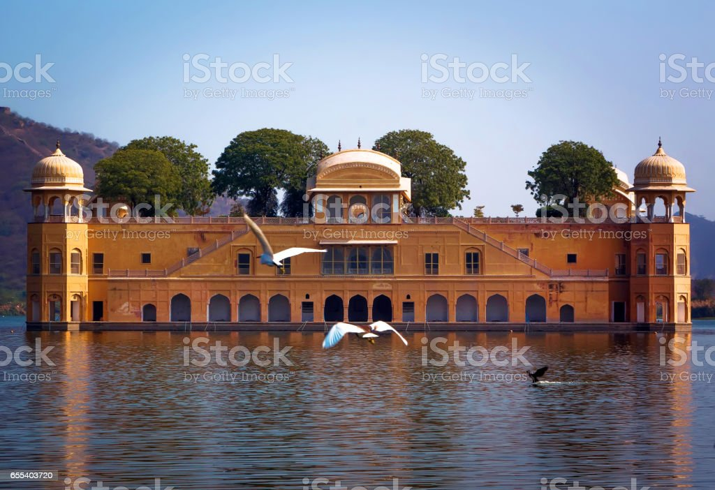 Jal Mahal is a palace on Man Sagar Lake, Jaipur, India stock photo
