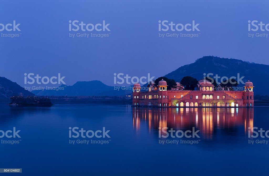 Jal Mahal, Jaipur at blue hour stock photo