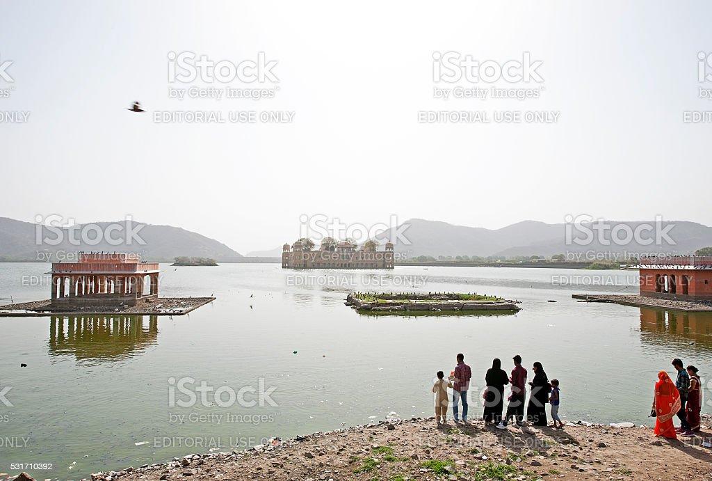 Jal Mahal, Man Sagar, Jaipur, Rajasthan, India stock photo