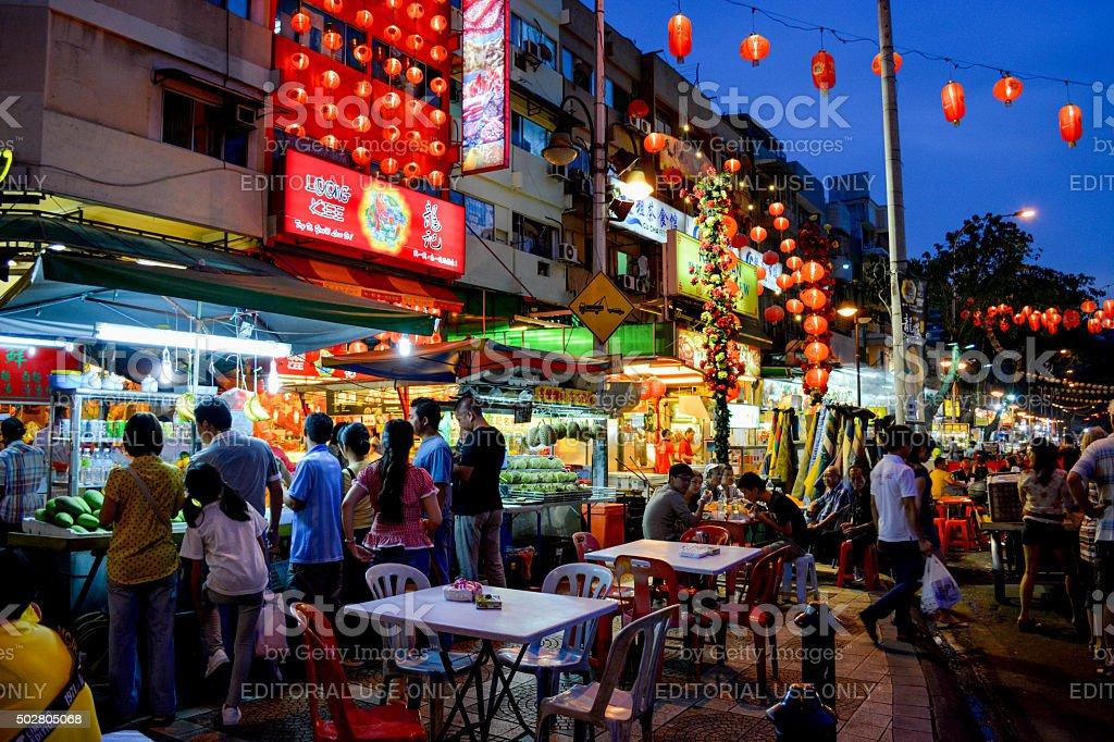Jalan Alor stock photo