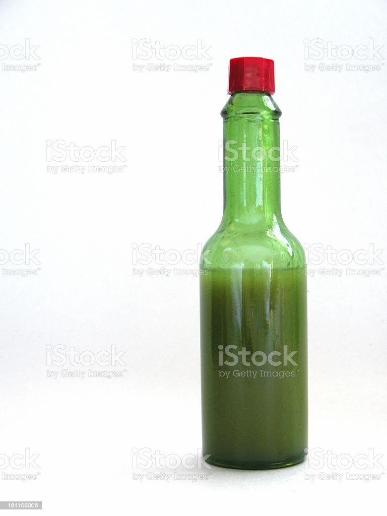 Jalapeno hot sauce stock photo