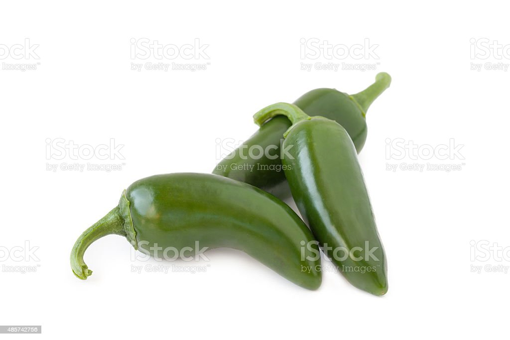 jalapenos Chili Peppers or Mexican chili peppers stock photo