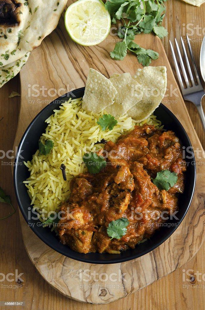 Jalfrezi with rice stock photo