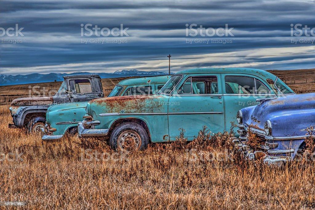 Jalopies stock photo