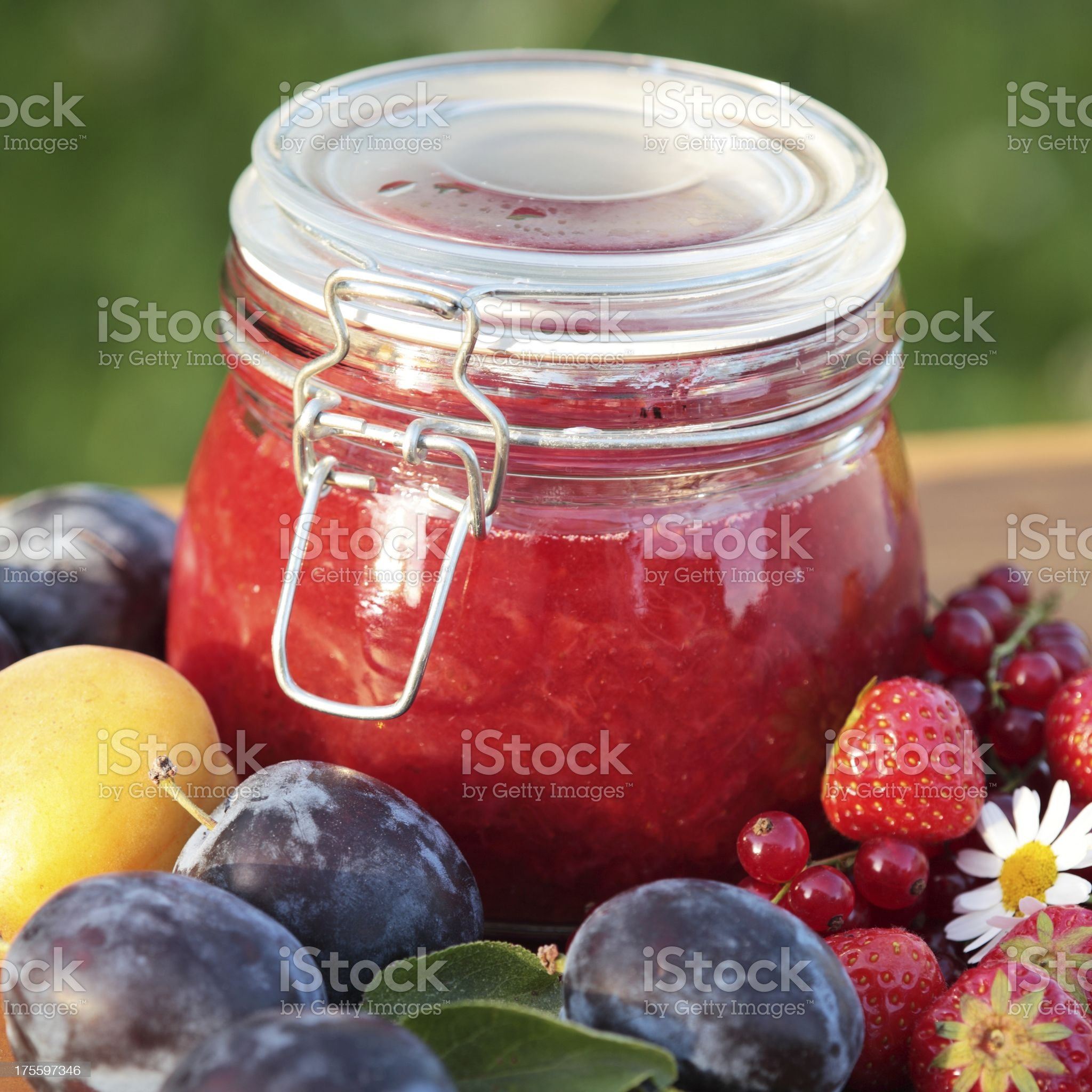 Jam and fruits royalty-free stock photo