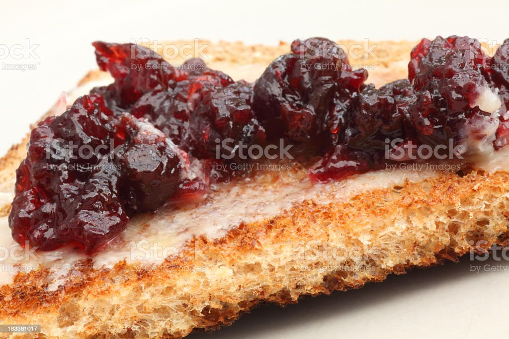 Jam and toast royalty-free stock photo