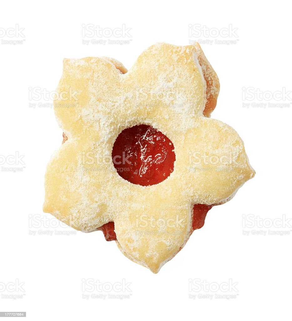 Jam biscuit royalty-free stock photo